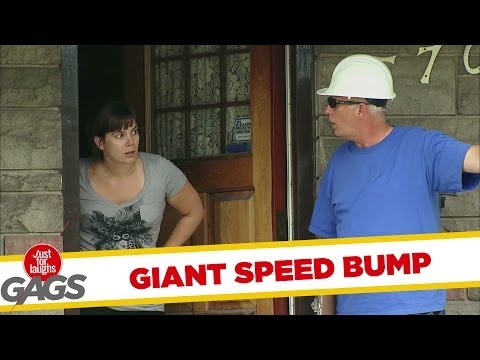 Door-to-door Prank - Giant Speed Bump