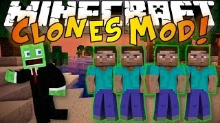 Minecraft: CLONES MOD Clone Yourself, Teleport & Cheat