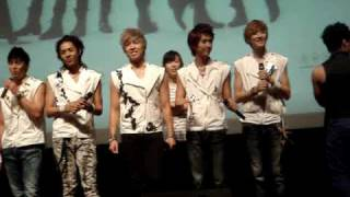 U-KISS Malaysia Fanmeet 2010: U-KISS speaking in Malay