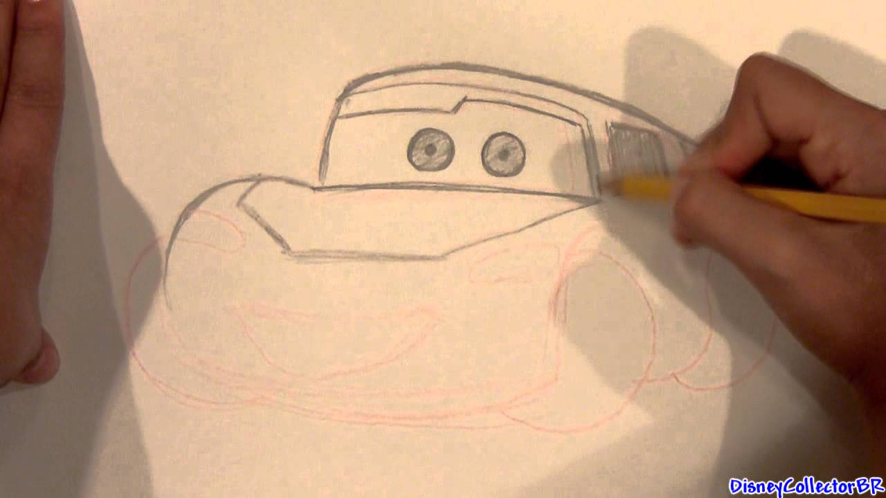 drawing lightning mcqueen from cars 2 pixar disney how