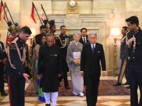 03 dec, 2013 - Japanese Royals meet Indian President, receive ceremonial reception