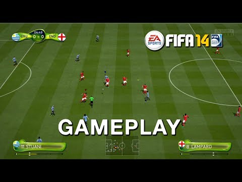 Uruguay vs England Gameplay 2014 FIFA World Cup Brazil [HD]