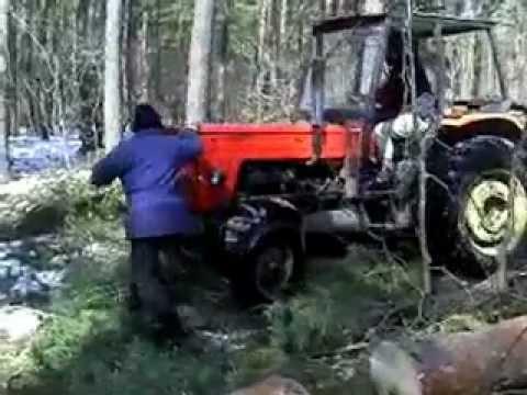 Brutalna zrywka drewna w rosyjskiej tajdze! Ursus daje czadu!