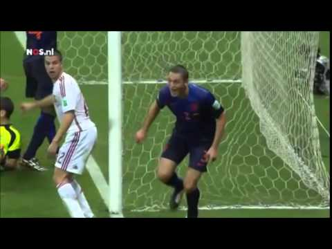 Goals Spain 1-5 Netherlands (Dutch)