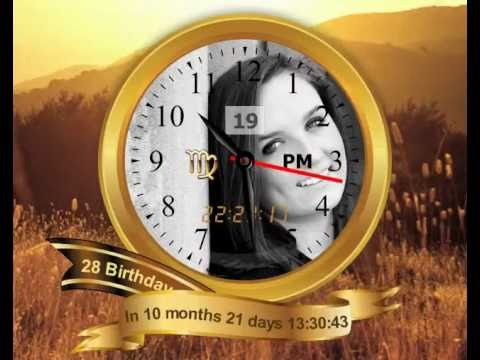 [Image: create your Birthday desktop clock App - Golden Design, App uses high fidelity vector graphics]