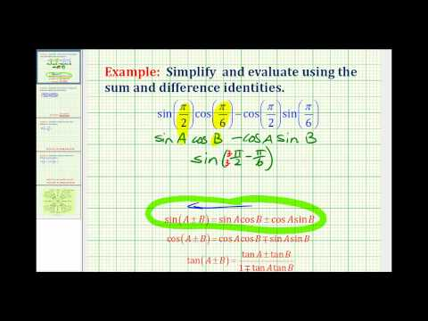 Example: Simplify a Trig Expression Using the Sum and Difference Identities