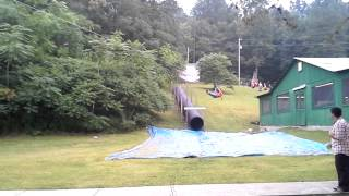 Camp Victory's Official Zip Line Test- 400 feet! view on youtube.com tube online.