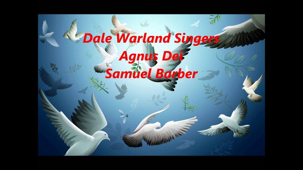 Barber - Agnus dei (with sheet music) - YouTube