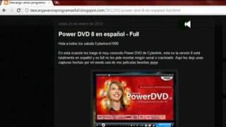 Descargar Power DVD 8 En Español Loquendo
