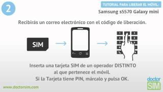 Liberar Samsung S5570 Galaxy Mini, Desbloquear Samsung