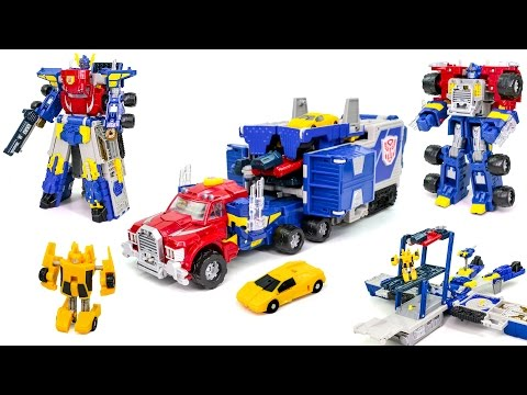 Transformers Armada Leader Optimus Prime Super Mode Auto Transform Truck Vehicle Car Robot Toys