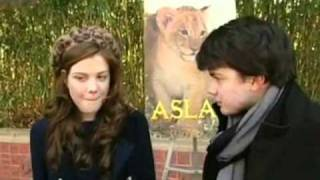 Skandar Keynes Georgie Henley ~ Funny And Cute Moments