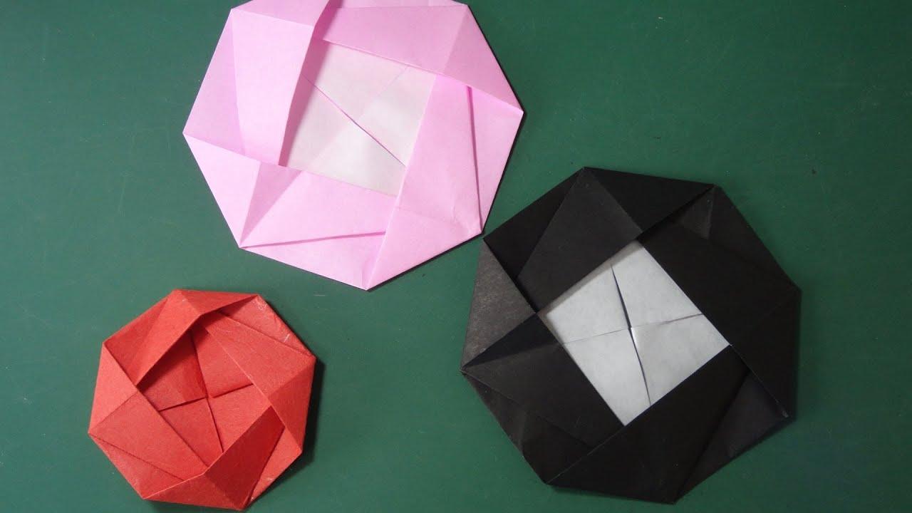 すべての折り紙 折り紙 蓮の花 折り方 : 花の折り紙「カメリア」折り方 ...