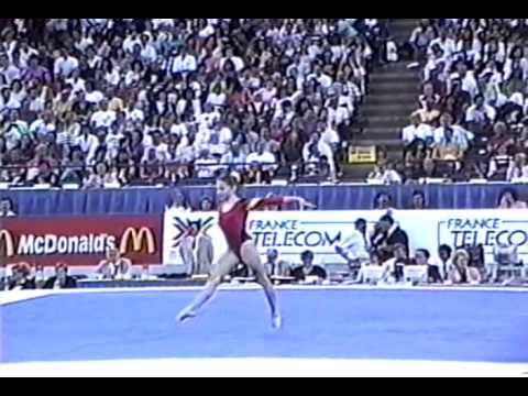 10th Team GER Gabby Weller FX - 1991 World Gymnastics Championships 9.087