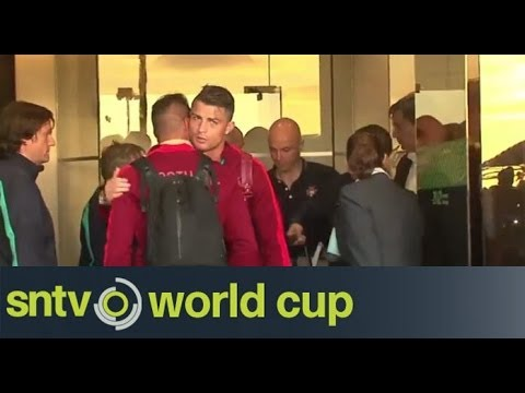 Portuguese squad arrived home following World Cup exit