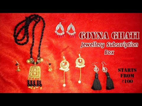 *New Goyna Ghati Box | Jewelry Subscription Box | @₹100 | Unboxing & Review | SahiJeeth