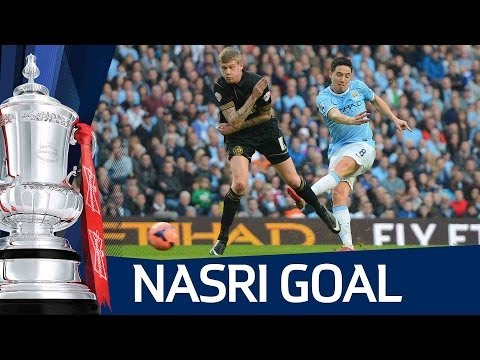 SAMIR NASRI GOAL: Manchester City vs Wigan Athletic 1-2 FA Cup Sixth Round HD