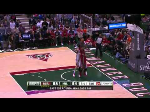NBA Playoffs 2013: NBA Miami Heat Vs Milwaukee Bucks Highlights April 28, 2013 Game 4