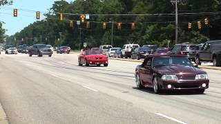 2014 Mustang Week Pull Outs, Burn Outs, Cop Chase, And