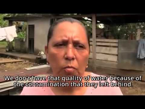 Maria Reascos, victim of Chevron contamination, on being sued by the oil giant