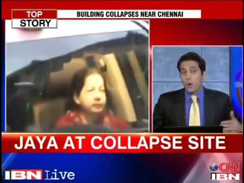 Chennai building collapse  11 dead, 72 still trapped; CM Jaya on spot