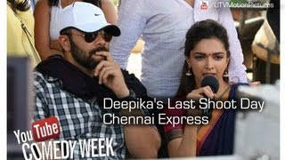 Chennai Express shooting spot video | Deepika's last day of shoot | Behind the scenes