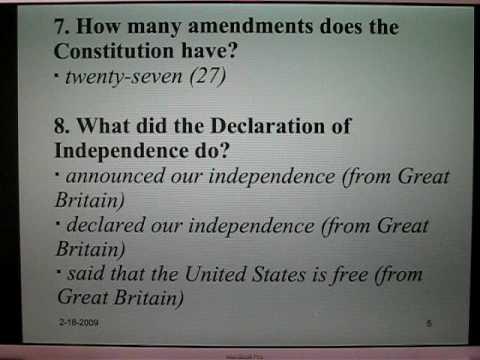 Examen de ciudadan 237 a americana 1 preguntas 1 25 youtube