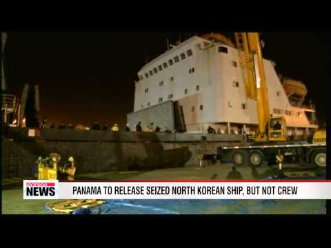 Panama to free seized N. Korean ship, but not crew