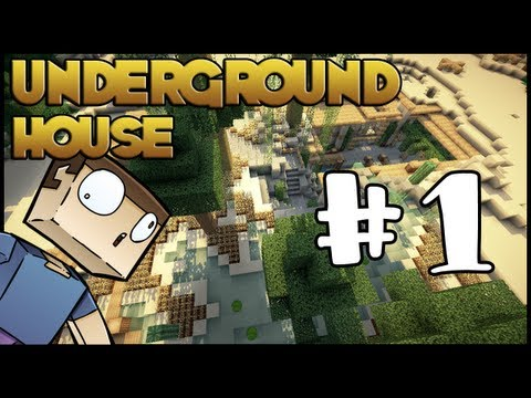 Minecraft Lets Build HD: Underground House - Part 1