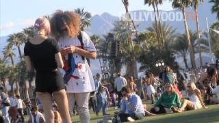 chanel-: Fergie, Jessica Stroup, Blake Anderson, and Grouplove at Caochella