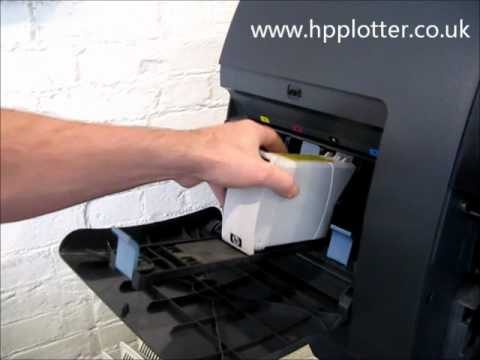 Designjet 4000/4000PS Series - Replace ink cartridge on your printer