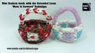"Rainbow Loom Basket Using Extended Loom ""Move It Forward"