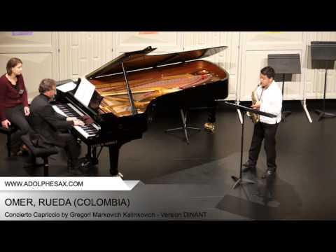 Dinant2014 OMER Rueda Concierto Capriccio by Gregori Markovich Kalinkovich Version DINANT
