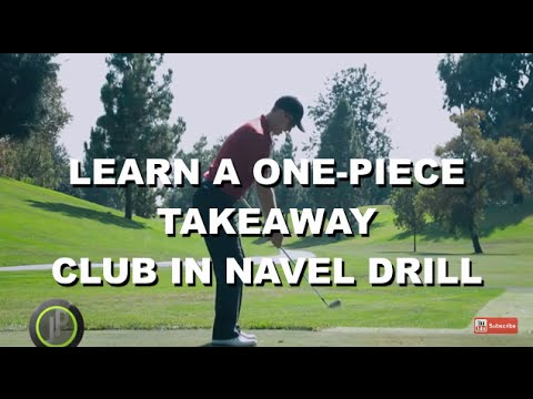 Improve Your Golf Swing Takeaway & Backswing - Club in Navel Drill