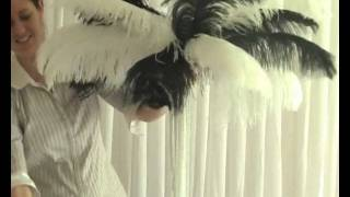 How To Create An Ostrich Feather-Top Wedding Reception Or