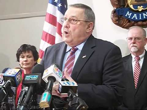 Maine Gov Paul LePage Presents LD 1811, War on Drugs Bill, in Press Conference