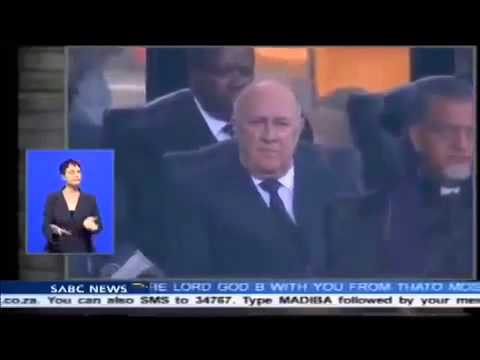 Fake Deaf Interpreter At Mandela Ceremony!