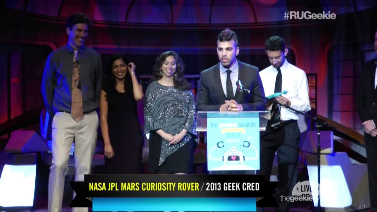 The Geekie Awards 2013: NASA / JPL Mars Curiosity Rover Receives the 'Geek Cred' Award