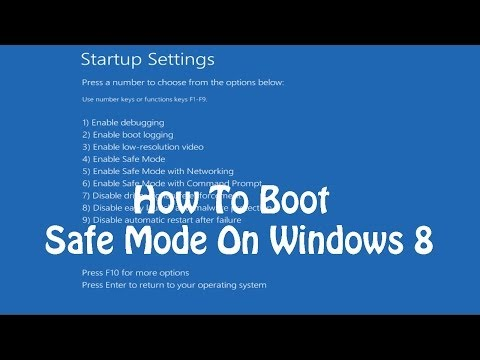 how to boot into safe mode on windows 8 8 1
