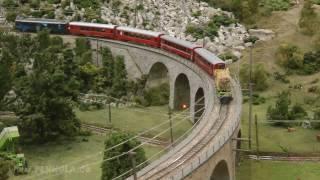 Modellbahn Eisenbahn Viadukt Brusio RhB Bernina Bahn