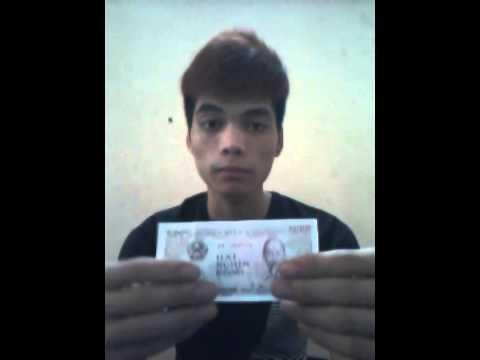 Ảo thuật giấy biến thành tiền