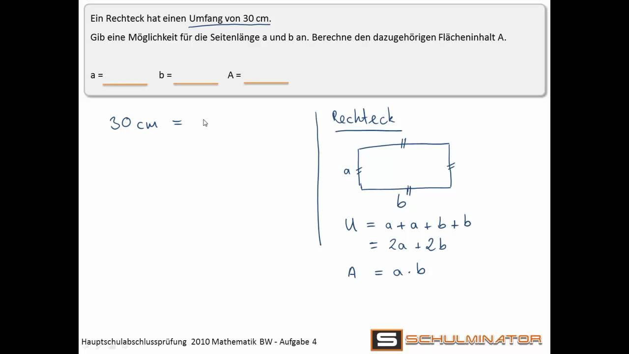 hauptschulabschluss 2010 mathematik baden w rttemberg wahlaufgabe 4 youtube. Black Bedroom Furniture Sets. Home Design Ideas
