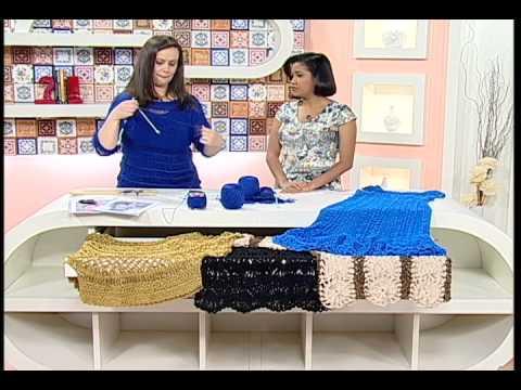 Artesanato - Blusa em tricô e crochê de grampo