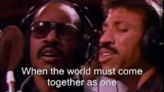 Michael Jackson we are the world con letra