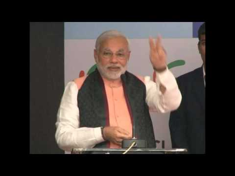 Shri Narendra Modi addressing the FICCI national executive committee meeting in Gandhinagr HD