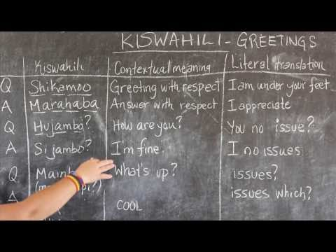 Video #1 - GO! presents: The BEST Swahili Tutorials - GREETINGS (live from Tanzania)