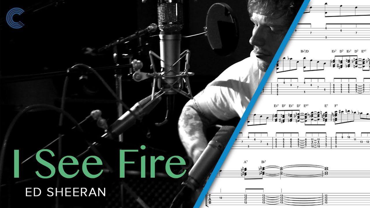Trumpet i see fire the hobbit ed sheeran sheet music chords