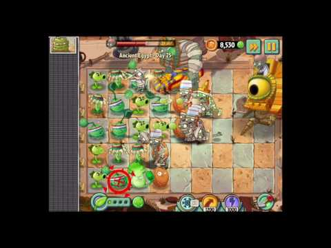 Plants vs. Zombies 2 - Ancient Egypt - Day 25 Walkthrough