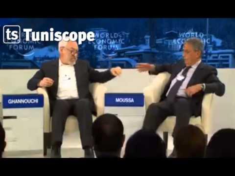 image vidéo مشادة كلامية بين راشد الغنوشي و عمر موسى