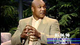 George Foreman Talks About Joe Frazier On Johnny Carson's